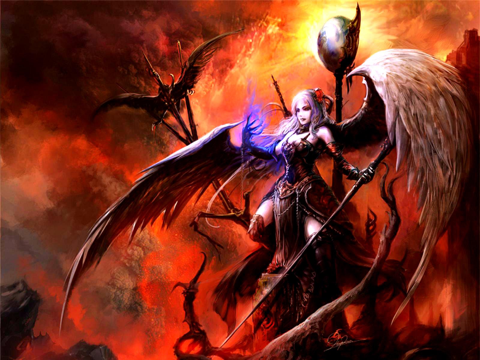 Fire Wallpaper Hd Wallpapers Fantasy Art Warrior Woman