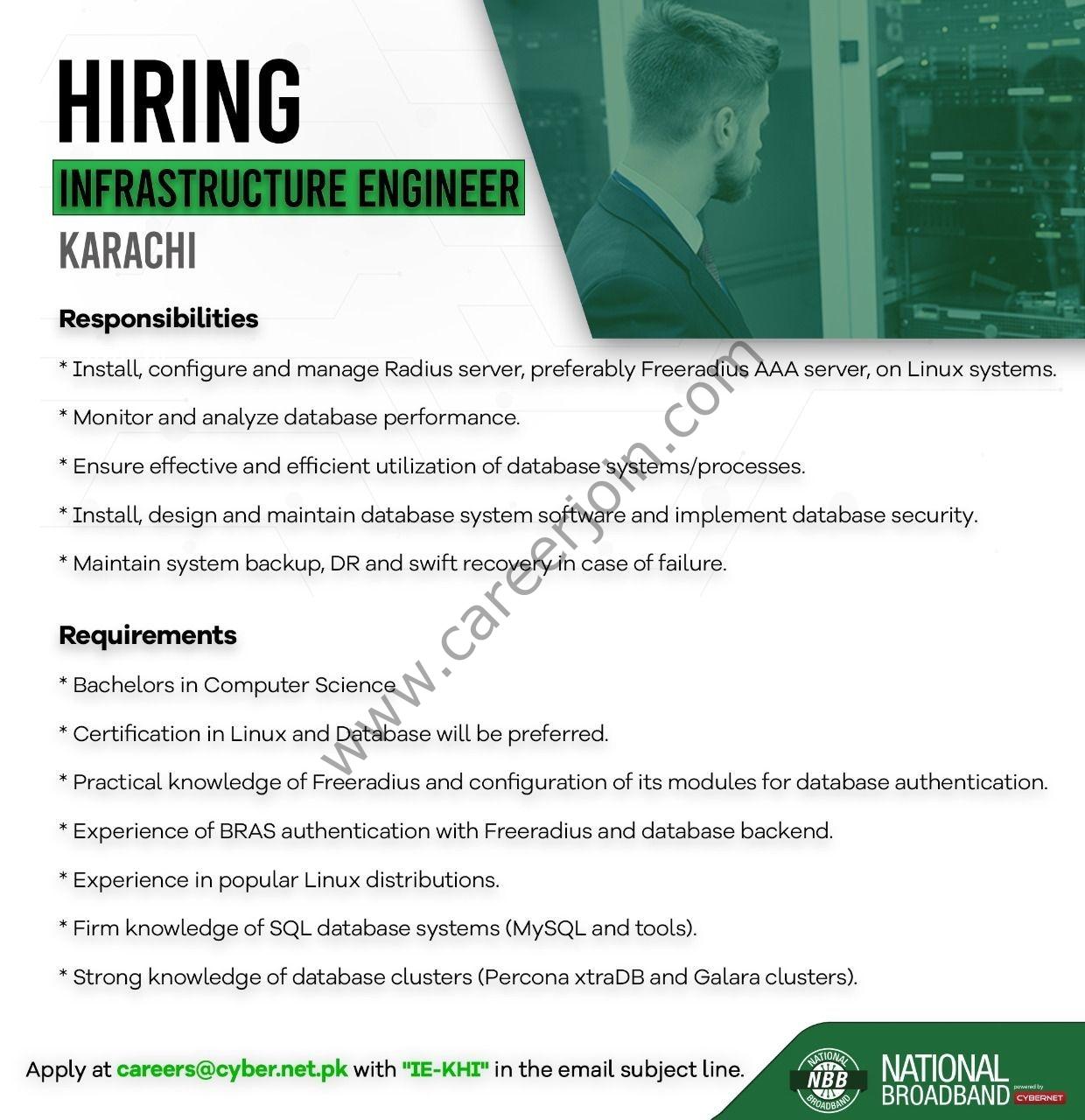 National Broadband Jobs Infrastructure Engineer