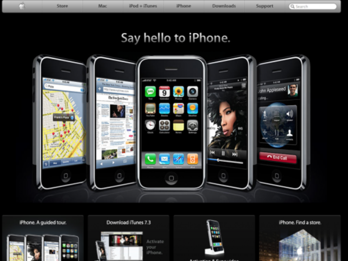 screenshot sito apple nel 2007