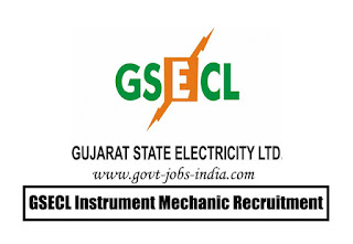 GSECL Instrument Mechanic Recruitment 2020