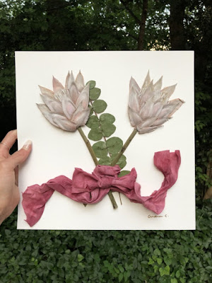 Wedding Ideas - king protea flowers with pink ribbon framed - dbandrea - Wedding Ideas - framed wedding flowers - dbandrea - Wedding Soiree Blog by K'Mich - wedding planners in Philadelphia PA
