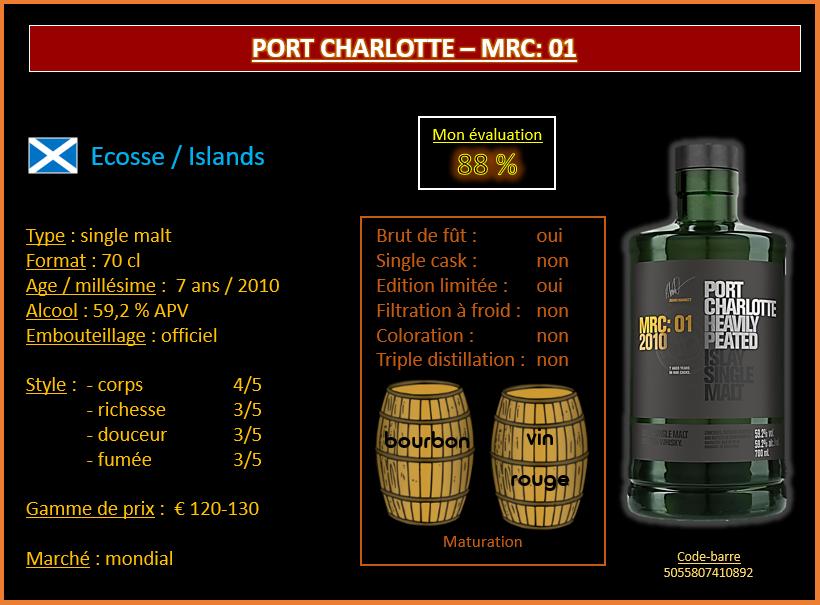 Review #619  : Port Charlotte – MRC: 01