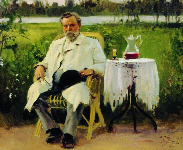 Маковский Владимир Егорович - Портрет И.Е.Цветкова. 1905