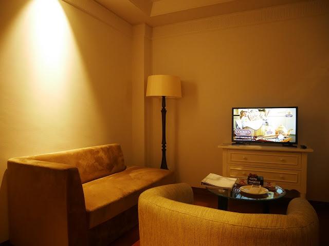 Ruang tamu di Hotel De Paviljoen