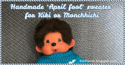 kiki monchhichi handmade fait main tricot April fool 1er avril poisson