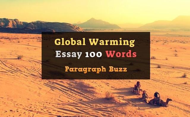 100 Words Essay on Global Warming