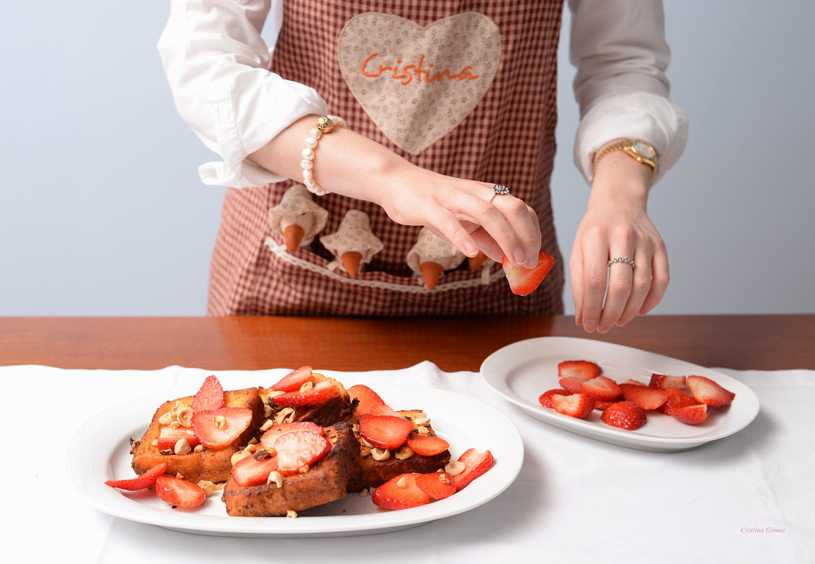 french toast custard hazelnut strawberries