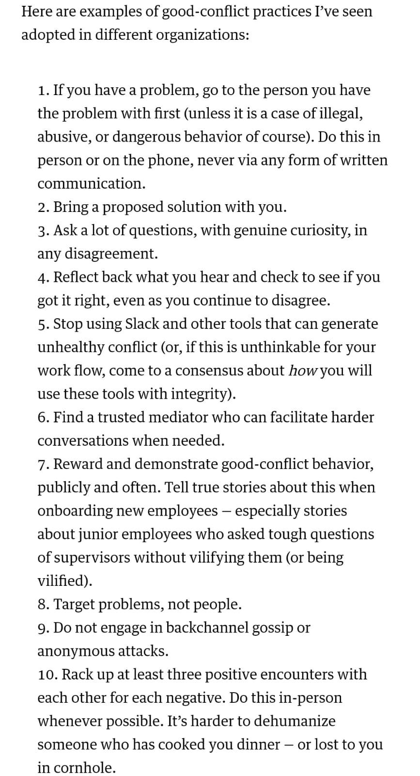 10 tips menghadapi konflik dari artikel Harvard Business Review