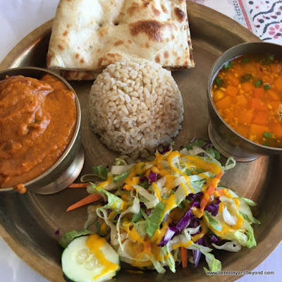 lunch special plate at Himalayan Tandoori & Curry House in Berkeley, California