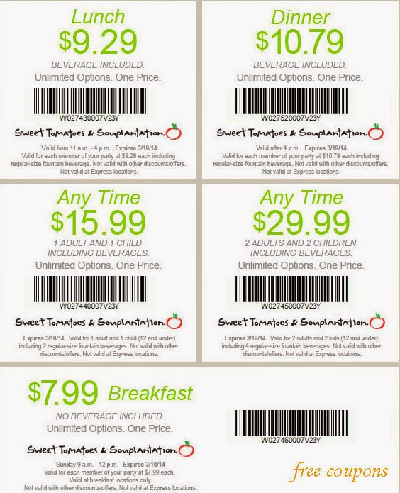 photograph about Sweet Tomatoes Printable Coupons identify Printable discount codes cute tomatoes cafe / Isagenix