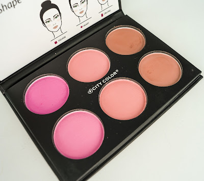 city color Glow Pro Blush Palette Matte Collection