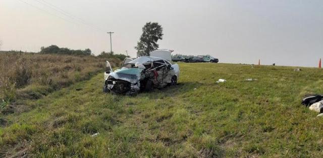 Un accidente ocurrió esta mañana de sábado sobre la ruta nacional 12