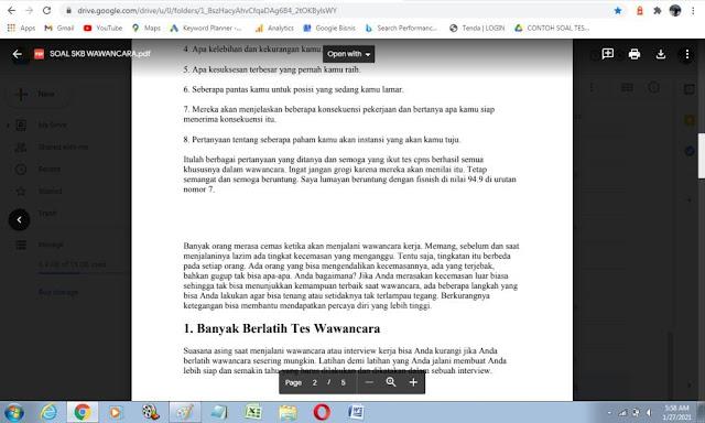 Contoh Soal P3K Tes Wawancara