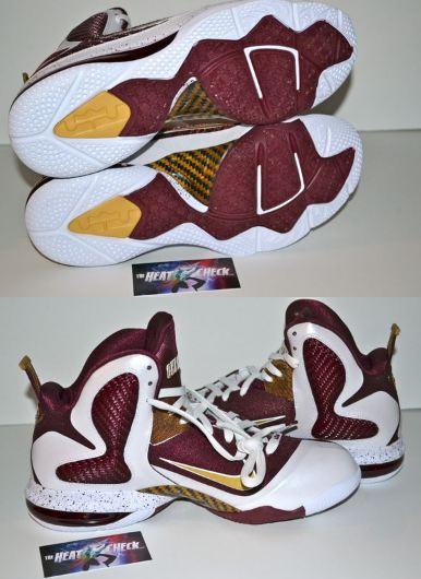 """another chance b2325 5eaa3 ... Nike Lebron 9 """"Christ the King"""" Home Sneaker, what do you all think of  these right here  Peep a gang of detailed images of these kicks after the  jump."""