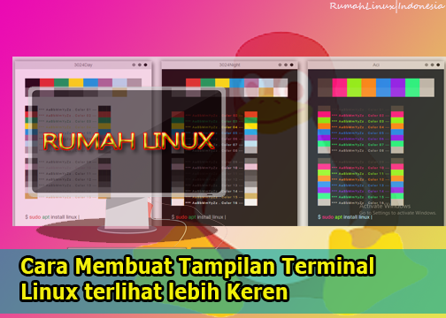 Membuat Tampilan Terminal Linux Keren|Terminal Linux Keren|Gnome Terminal Themes|Gogh in Linux|Ubuntu Linux Keren|Blog Linux Indonesia