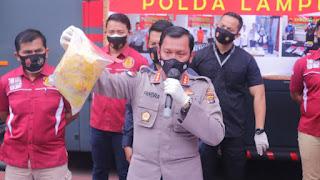 Konferensi Pers Polda Lampung, Terkait Pembuangan Limbah Medis di TPA Bakung