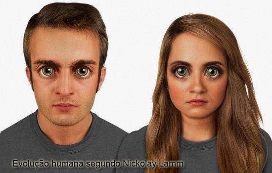 Evolução humana por Nickolay Lamm