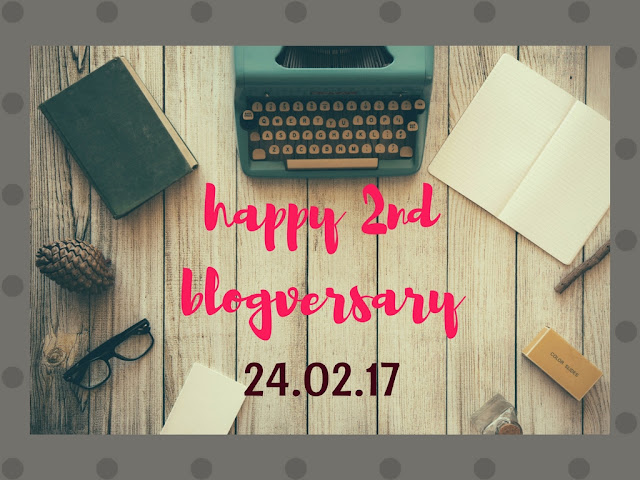 It turns two (2) .... happy 2nd blog-versary