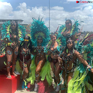 Ashanti huge  at Carnival in Trinidad and Tobago wearing   celebs.in Exclusive Pics 003