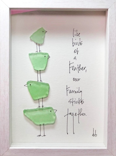 How to Make Framed Art with Sea Glass Pieces
