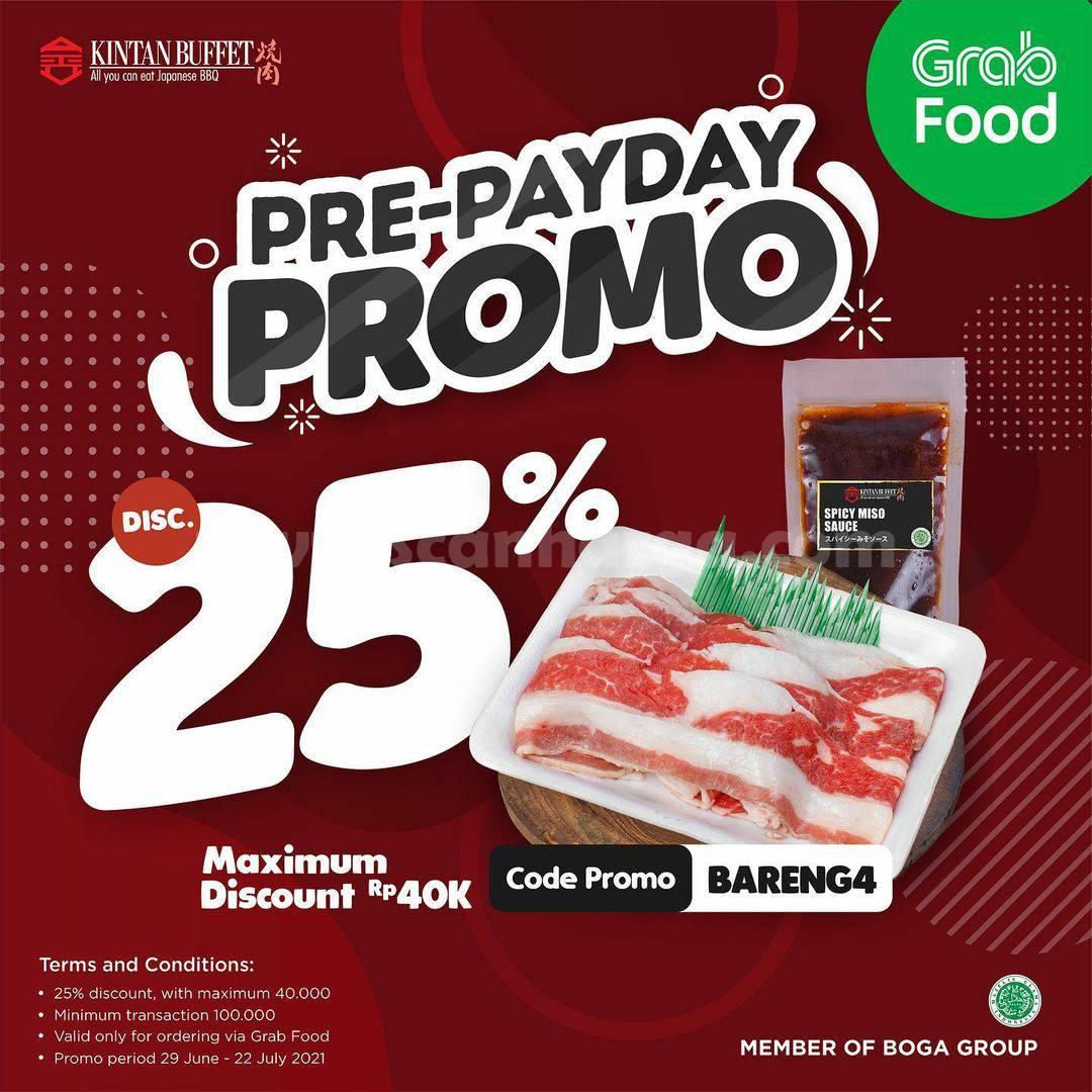 Promo KINTAN BUFFET Pre-Payday - Diskon hingga 25% via GRABFOOD