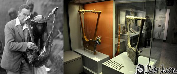 tarihi müzik aletleri, oldest music instrument, antik lir, arp, harp