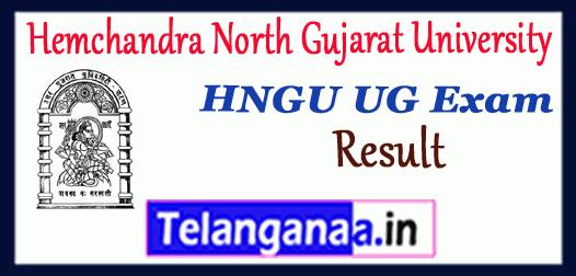 HNGU Hemchandra North Gujarat University UG 1st 2nd 3rd 4th 5th 6th semester Result
