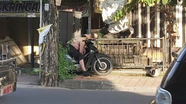Bule Meninggal diatas Motor di Bali, Positif Corona