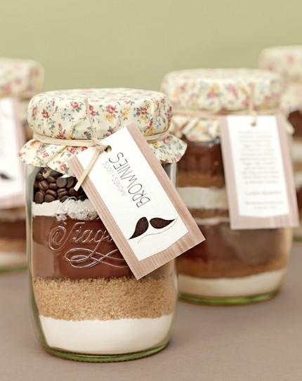 brownie w słoiku dla gości