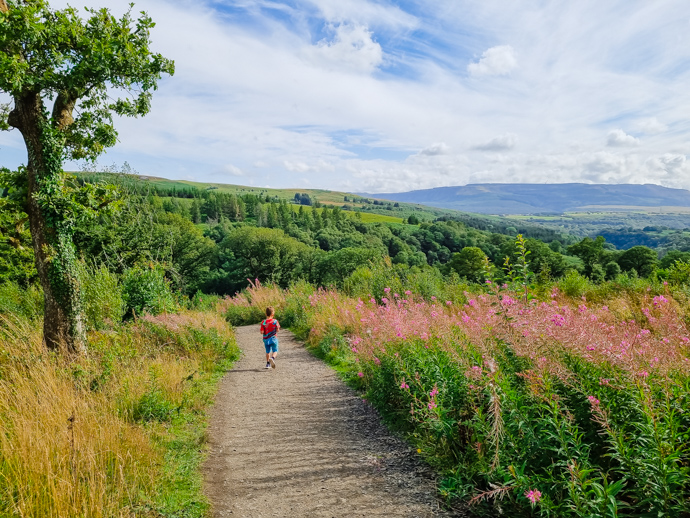South Wales with Kids, exploring Wales, Brecon Beacons, four falls walk