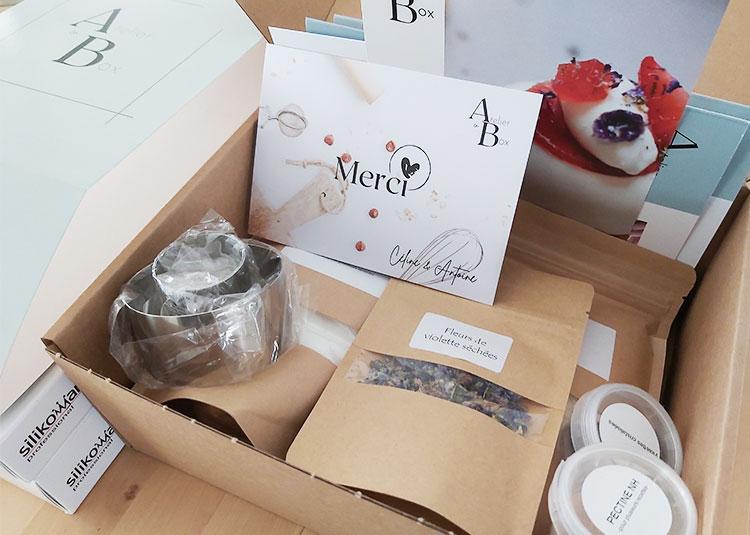 Box de pâtisserie de l'atelier en box