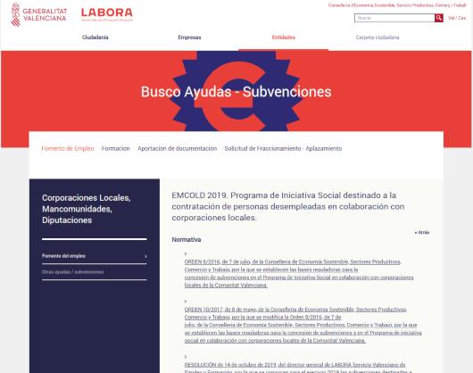 Labora publica los importes que los ayuntamientos afectados por la DANA recibirán para contratar a personas desempleadas