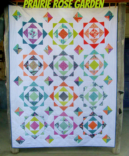Prairie Rose Garden Quilt Free Tutorial designed by Sarah Zimmerman of Ceddar Fork Stitches for Modabakeshop