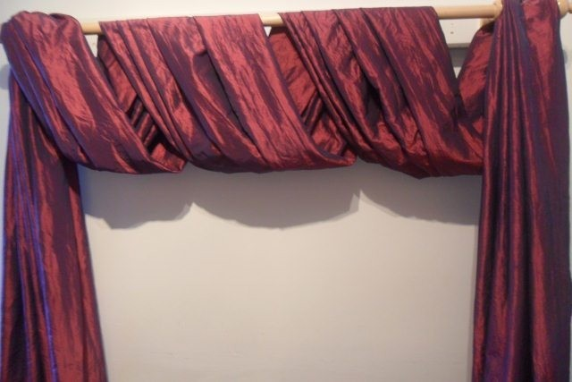For This Style Of Wrap Scarf You Will Need To Allow Double The Width Your Curtain Rod Plus Length Want Sides Hang Down