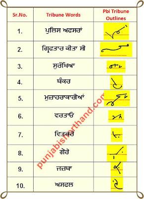 02 June 2020 Punjabi Tribune Shorthand Outlines