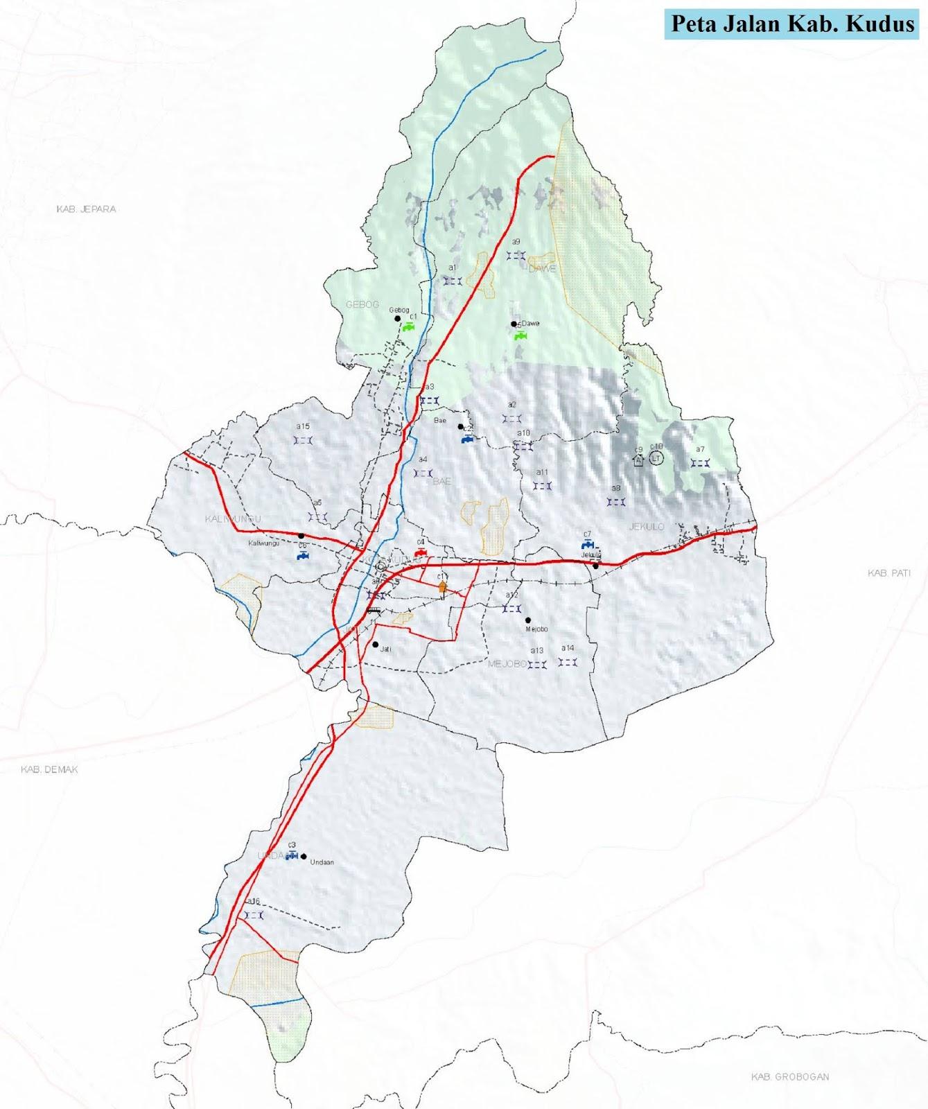 Peta Kabupaten Kudus HD