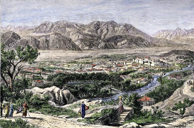 www.fertilmente.com.br - imagem retrata a antiga cidade de Esparta, a cidade sem muralhas