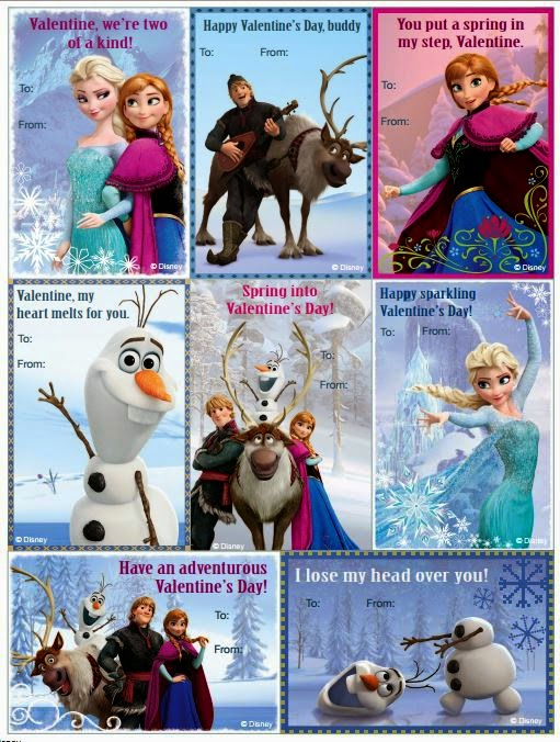 Pretty Free Printable Valentine´s Inspired in Frozen.