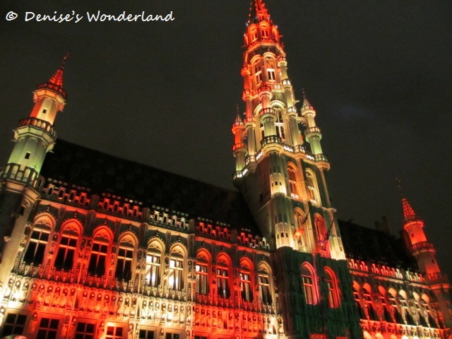 Amazing light and musical show at Grand Place