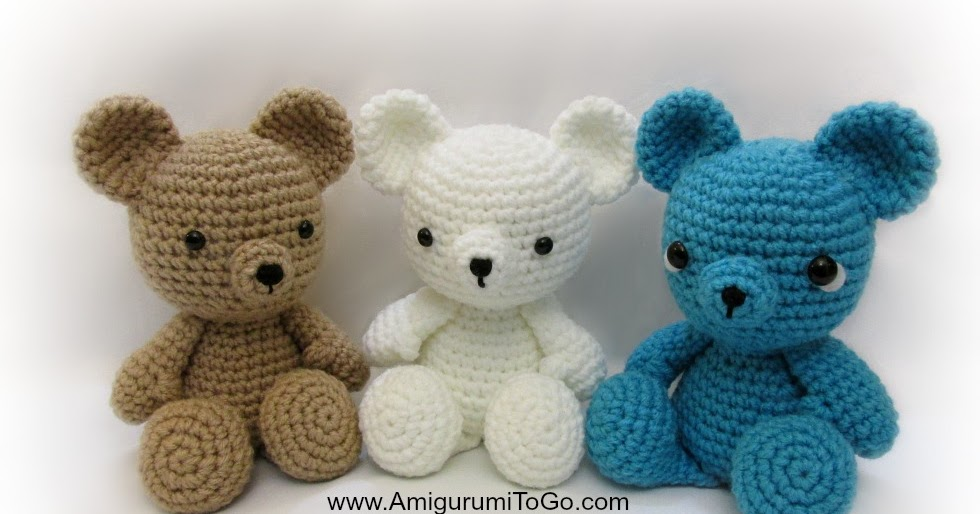 Crochet Teddy Bear Written Pattern and Video ~ Amigurumi To Go