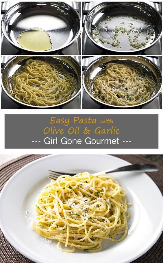 DINNER FOR ONE: EASY PASTA WITH OLIVE OIL & GARLIC #oliveoil #garlic #pasta #pastarecipes #easypastarecipes #dinnerrecipes
