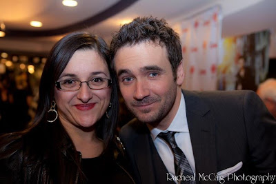 Allan Hawco and Diana - Toronto Teacher Mom at Republic of Doyle Premiere