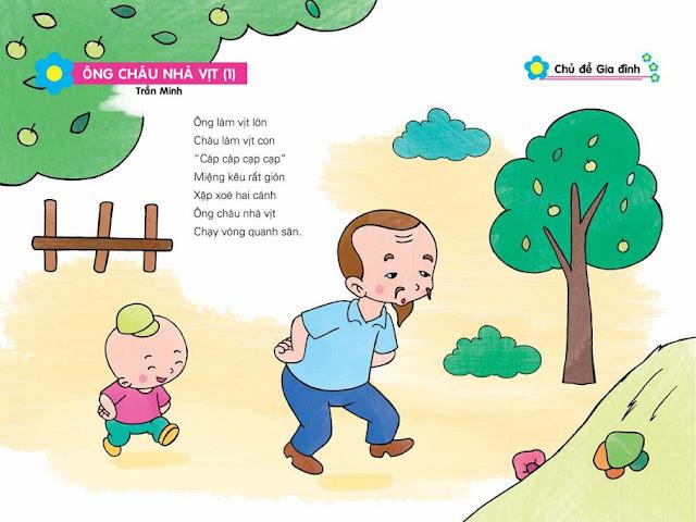 bài thơ chủ đề gia đình cho trẻ mầm non tranh minh họa