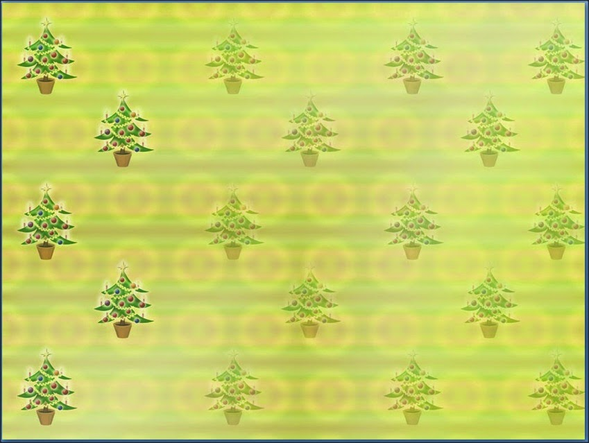 Small Christmas Tree Icon PowerPoint Background