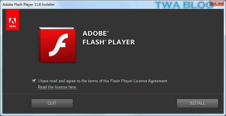 adobe flash player 11.6