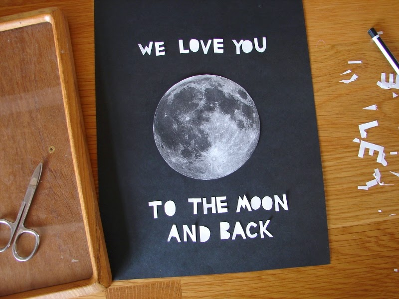 We Love You To The Moon And Back Diy Wall Art Craftykin