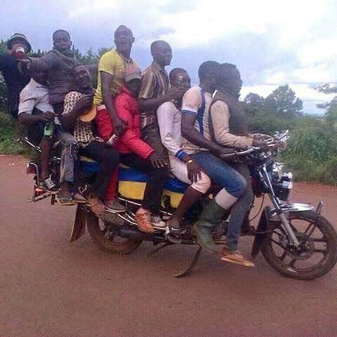 Picture of commercial motorcycle carrying 10 people goes viral