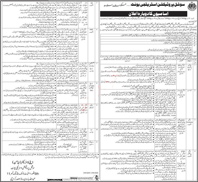 Social Protection Unit Karachi Jobs
