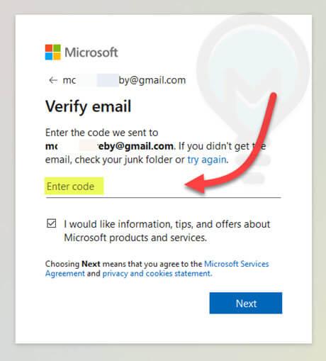 انهاء انشاء حساب جديد فى موقع مايكروسوفت