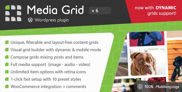 Media Grid v6.51 - Wordpress Responsive Portfolio